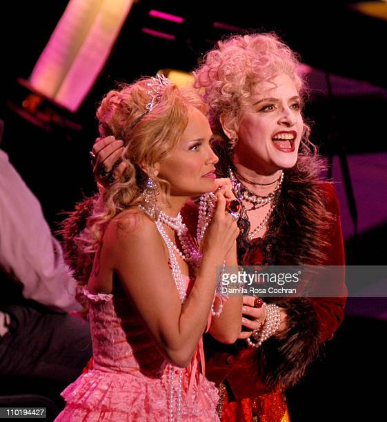 Kristin Chenoweth and Patti Lupone during Kristin Chenoweth and Patti Lupone Perform in New York Philharmonic's Candide Dress Rehearsal at Avery...