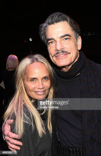 Kristin Chenoweth and Peter Gallagher during the Broadway Opening Night Gypsy Robe Ceremony celebrating Bahiyah Hibah of 'On the 20th Century' at The...