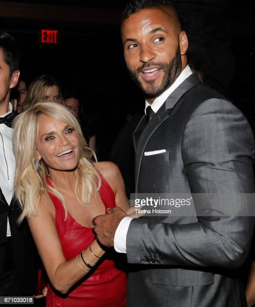 Kristin Chenoweth and Ricky Whittle attend the premiere of Starz's 'American Gods' after party on April 20 2017 in Hollywood California