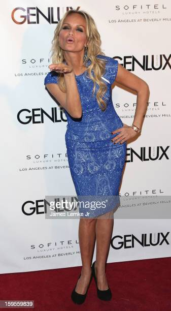 Kristin Chenoweth attends the Genlux Cover Girl Kristin Chenoweth Celebrates Opening of new bar Riviera 31 at The Sofitel L.A. On January 15, 2013 in...