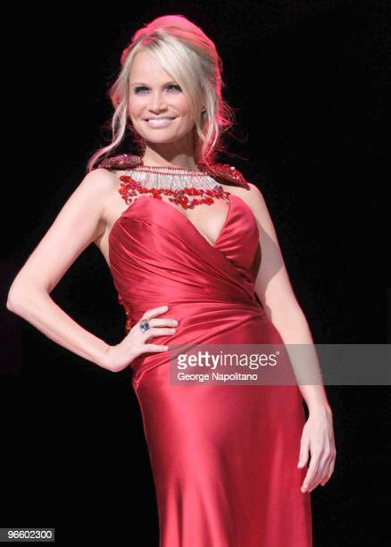 Kristin Chenoweth attends the The Heart Truth Red Dress Collection Fall 2010 fashion show during MercedesBenz Fashion Week at Bryant Park on February...