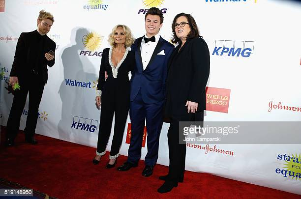 Kristin Chenoweth Blake Christopher O' Donnell and Rosie O'Donnell attend PFLAG National's Eighth Annual Straight For Equality Awards Gala at The New...
