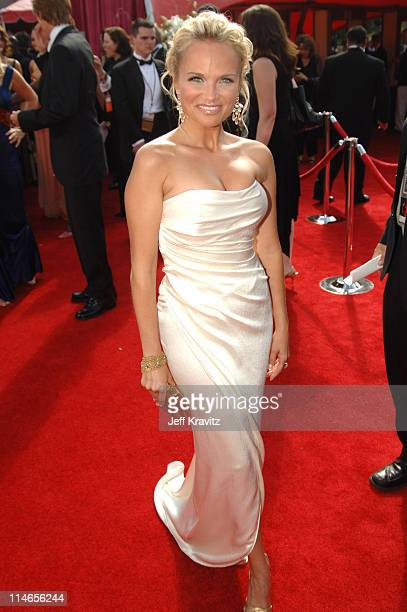 Kristin Chenoweth during 57th Annual Primetime Emmy Awards Red Carpet at The Shrine in Los Angeles California United States