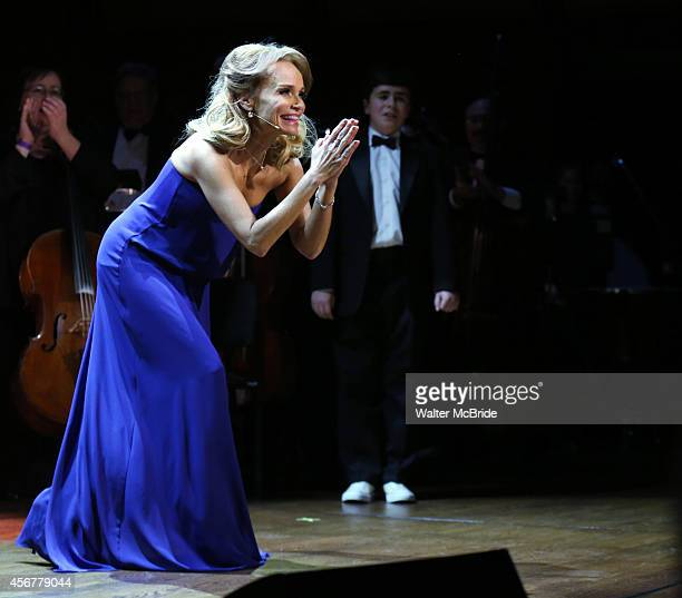 Kristin Chenoweth during the Curtain Call for the OneNightOnly Benefit Concert Premiere of 'I Am Harvey Milk' at Avery Fisher Hall on October 6 2014...