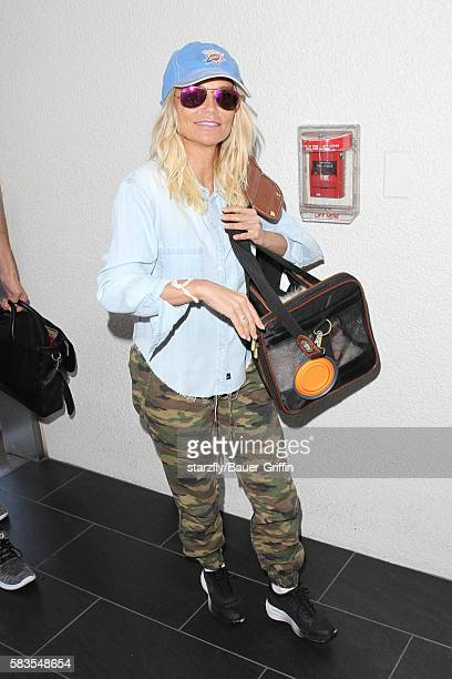 Kristin Chenoweth is seen at LAX on July 26 2016 in Los Angeles California