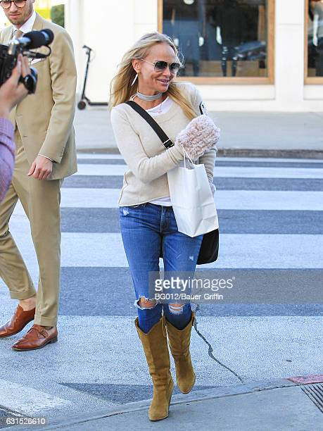 Kristin Chenoweth is seen on January 11 2017 in Los Angeles California