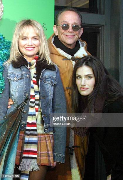 Kristin Chenoweth Joel Grey and Idina Menzel during Party to Celebrate the Arrival of the New Broadway Musical 'Wicked' at Macy's Herald Square in...