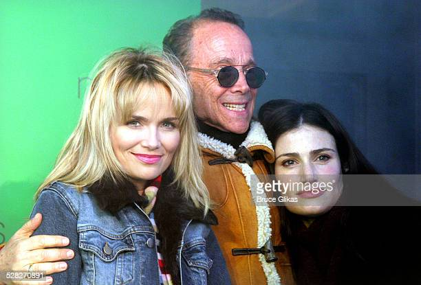 Kristin Chenoweth Joel Grey and Idina Menzel during Party to Celebrate the Arrival of the New Broadway Musical Wicked at Macy's Herald Square in New...