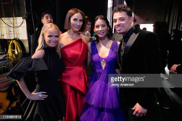 Kristin Chenoweth Laura Benani Lucy Liu and Anthony Ramos attend the 73rd Annual Tony Awards at Radio City Music Hall on June 09 2019 in New York City