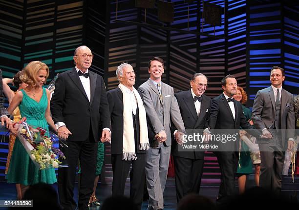 Kristin Chenoweth Neil Simon Burt Bacharach Sean Hayes Hal David Rob Ashford Tony Goldwyn taking a bow on the Opening Night Broadway performance...