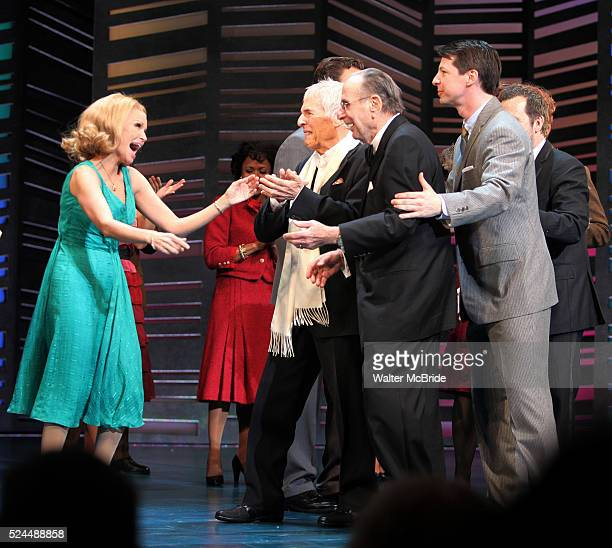Kristin Chenoweth Neil Simon Sean Hayes Hal David taking a bow on the Opening Night Broadway performance Curtain Call for PROMISES PROMISES at the...