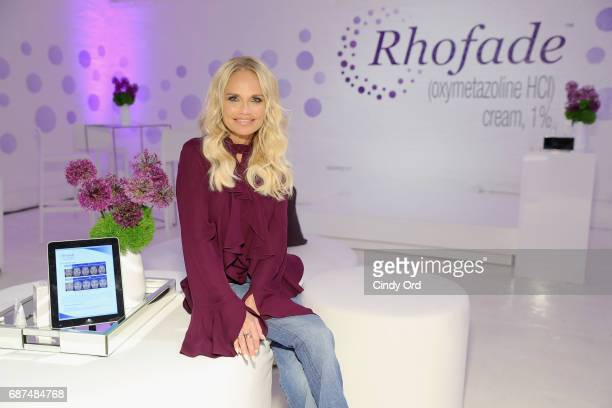Kristin Chenoweth partners with RHOFADE Cream 1% on a mission to address persistent facial redness from rosacea in adults at 201 Mulberry on May 23...