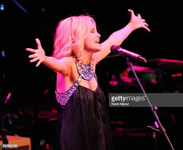 NEW YORK JUNE 08 *EXCLUSIVE* Kristin Chenoweth performs during a celebration of Paul Newman's Hole in the Wall camps at Avery Fisher Hall at Lincoln...