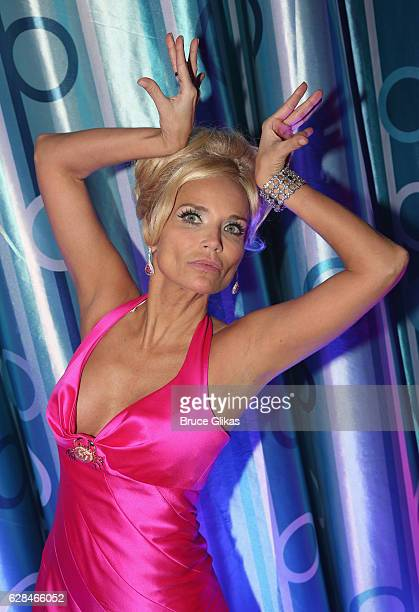 Kristin Chenoweth poses at the 'NBC presents Hairspray Live' After Party on the NBC/Universal Studios back lot on December 7 2016 in Los Angeles...