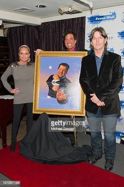 Kristin Chenoweth Producer Dale Badway and Artist Jim Warren attend a portrait unveiling on FameWall NYC at Trattoria Dopo Teatro on November 21 2010...