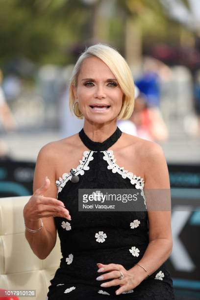 Kristin Chenoweth visits 'Extra' at Universal Studios Hollywood on August 16 2018 in Universal City California