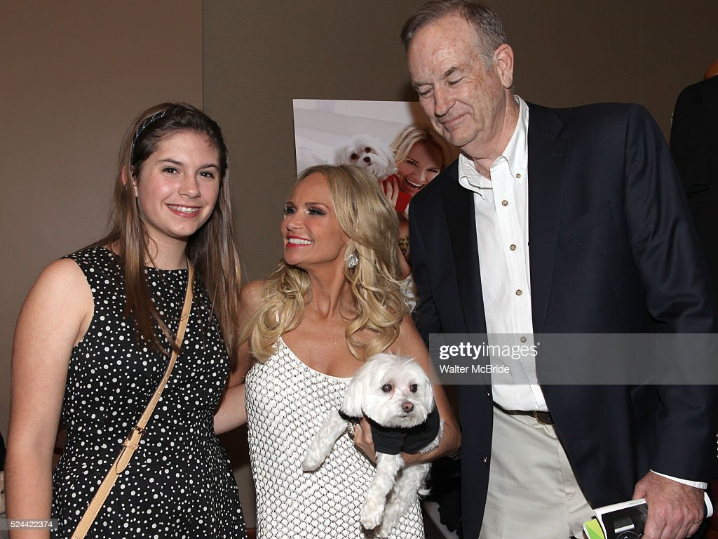 Madeline O'Reilly with her father Bill O'Reilly and Kristin Chenoweth in middle