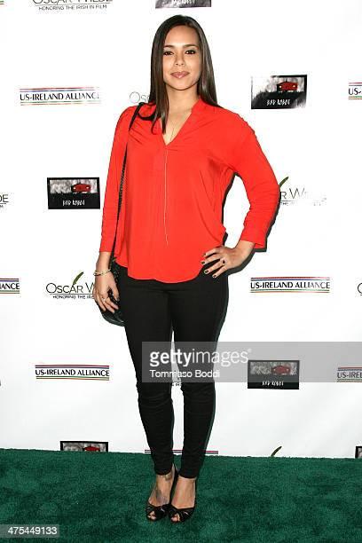 Kristin Crizaldo attends the USIreland alliance preAcademy Awards event held at Bad Robot on February 27 2014 in Santa Monica California