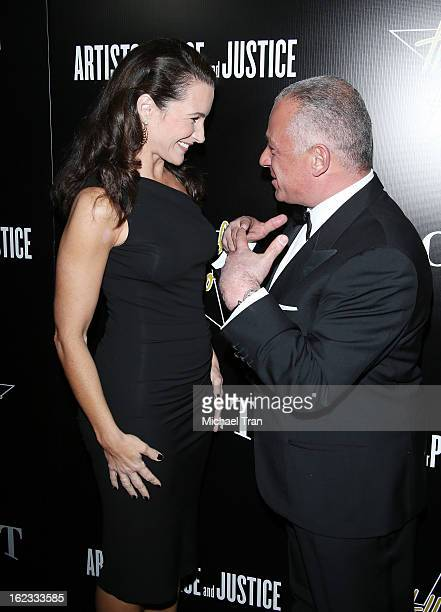 Kristin Davis and guest arrive at the 6th Annual Hollywood Domino PreOscar Gala Tournament held at Sunset Tower on February 21 2013 in West Hollywood...