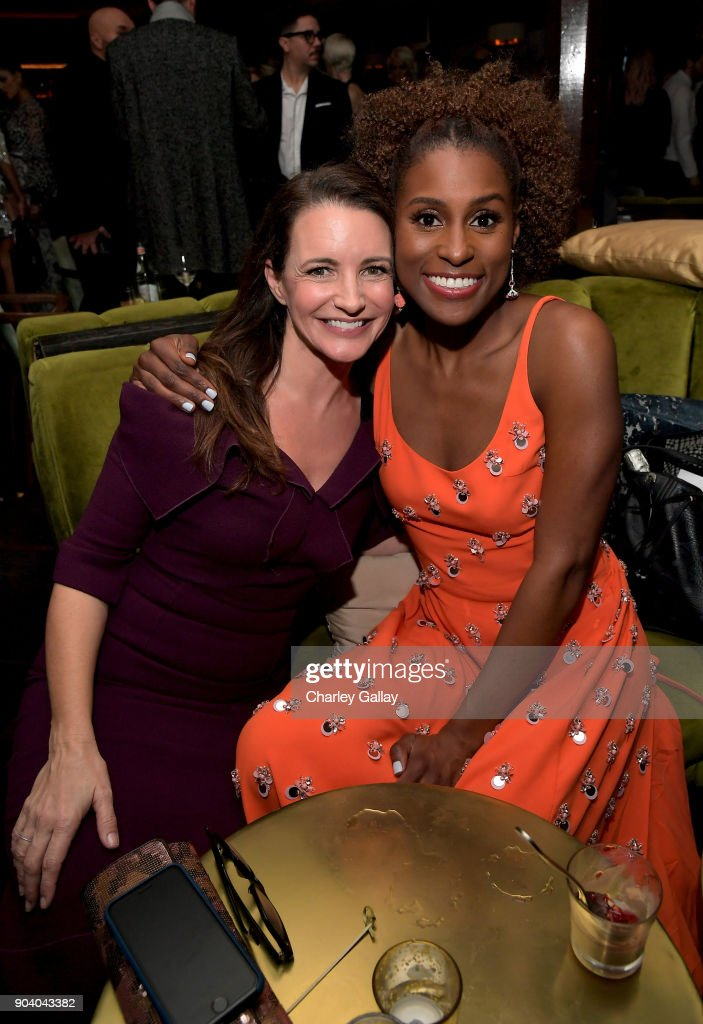 Kristin Davis (L) and Issa Rae attend the Marie Claire's Image Makers Awards 2018 on January 11, 2018 in West Hollywood, California.