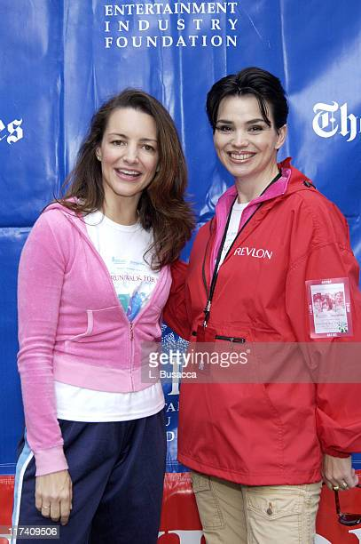 Kristin Davis and Karen Duffy during Entertainment Industry Foundation and Revlon Present the 7th Annual Run/Walk for Women - New York at Times...