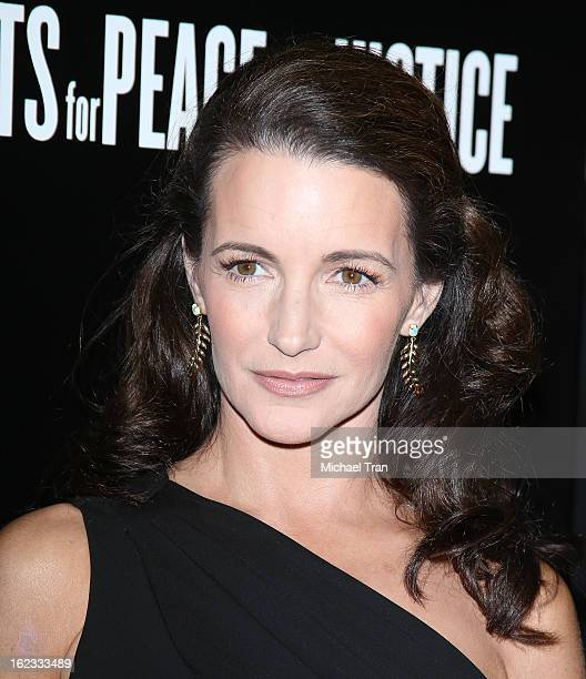 Kristin Davis arrives at the 6th Annual Hollywood Domino PreOscar Gala Tournament held at Sunset Tower on February 21 2013 in West Hollywood...
