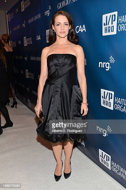Kristin Davis attends the 2nd Annual Sean Penn and Friends Help Haiti Home Gala benefiting J/P HRO presented by Giorgio Armani at Montage Hotel on...