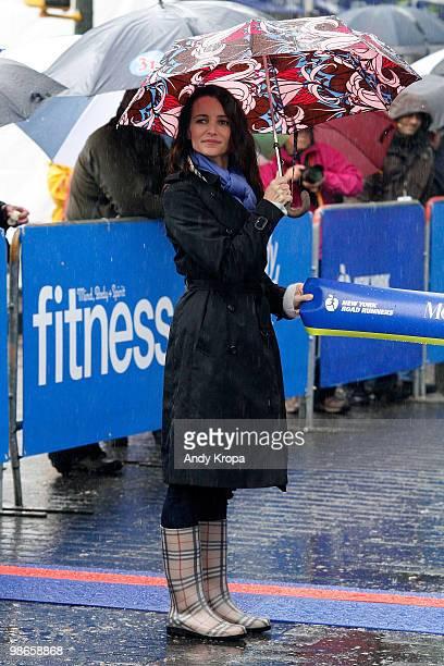 Kristin Davis attends the 7th Annual Fitness Magazine Women's HalfMarathon in Central Park on April 25 2010 in New York City