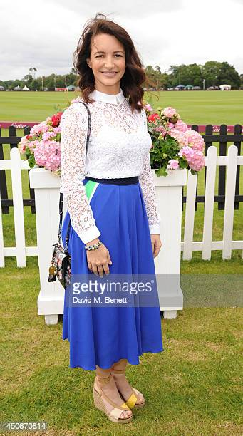 Kristin Davis attends the Cartier Queen's Cup Final at Guards Polo Club on June 15 2014 in Egham England