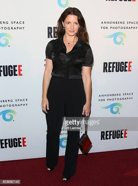 Kristin Davis attends the opening of REFUGEE Exhibit at Annenberg Space For Photography on April 21 2016 in Century City California