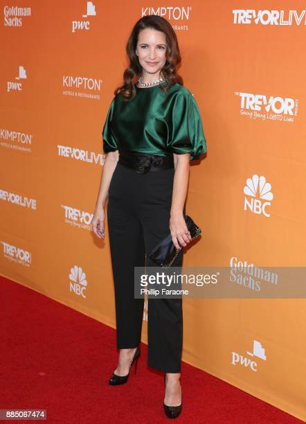 Kristin Davis attends The Trevor Project's 2017 TrevorLIVE LA Gala at The Beverly Hilton Hotel on December 3 2017 in Beverly Hills California