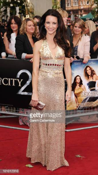 Kristin Davis attends the UK premiere of Sex And The City 2 at Odeon Leicester Square on May 27 2010 in London England