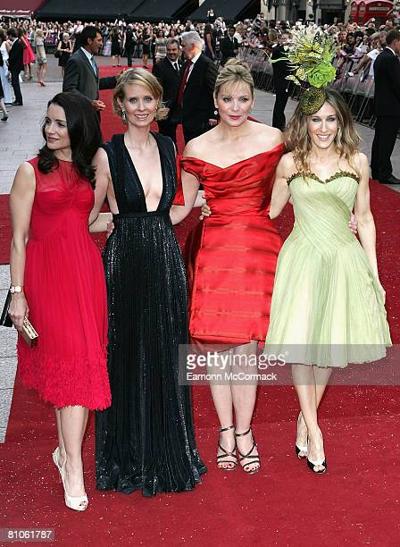 Kristin Davis Cynthia Nixon Kim Catrall and Sarah Jessica Parker attend the Sex And The City world premiere held at the Odeon Leicester Square on May...