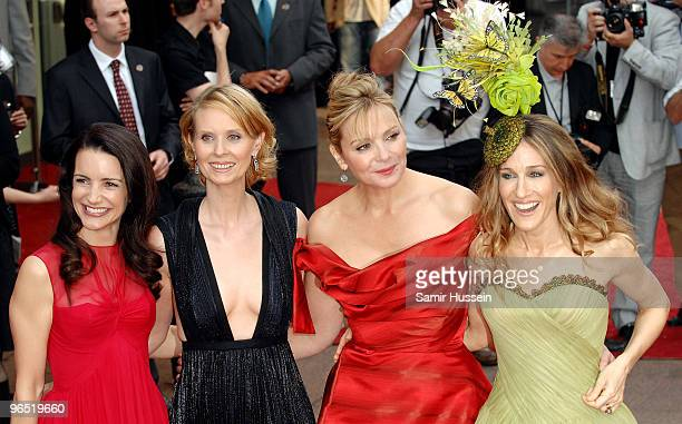 Kristin Davis Cynthia Nixon Kim Cattrall and Sarah Jessica Parker arrives at World Premiere of 'Sex And The City' at the Odeon Leicester Square on...