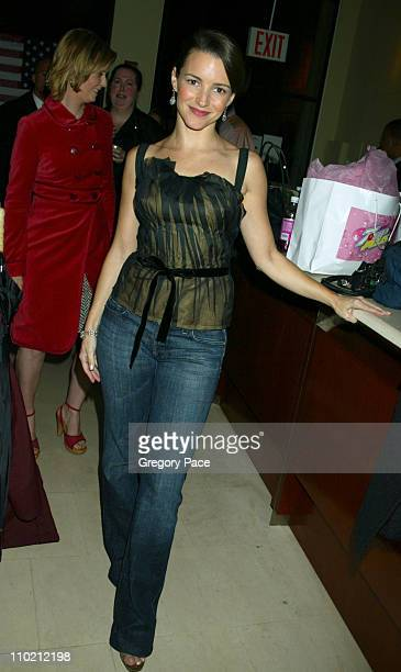 Kristin Davis during 7UP Plus Commercial Viewing Party Inside at Great Jones Spa in New York City New York United States