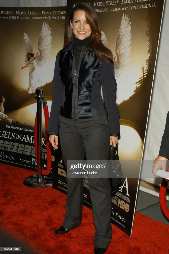 Kristin Davis during Angels In America - New York Premiere at Ziegfeld Theater in New York City, New York, United States.