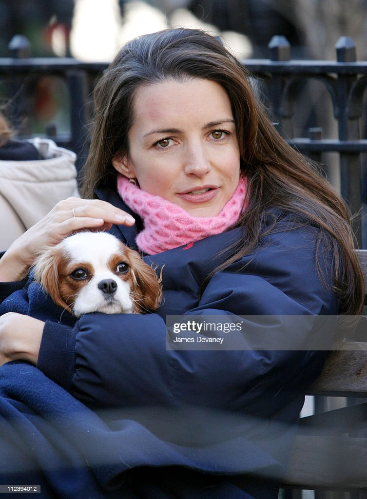 "Kristin Davis on the Set of ""Sex and the City"" - December 12, 2003"