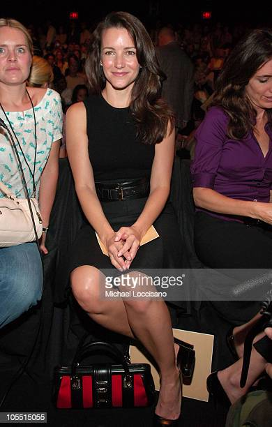 Kristin Davis during Olympus Fashion Week Spring 2006 Michael Kors Front Row at Bryant Park in New York City New York United States