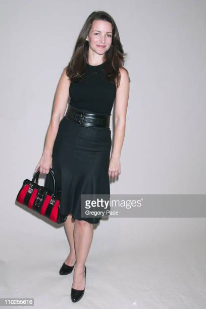Kristin Davis during Olympus Fashion Week Spring 2006 Michael Kors Backstage and Front Row at Bryant Park in New York City New York United States