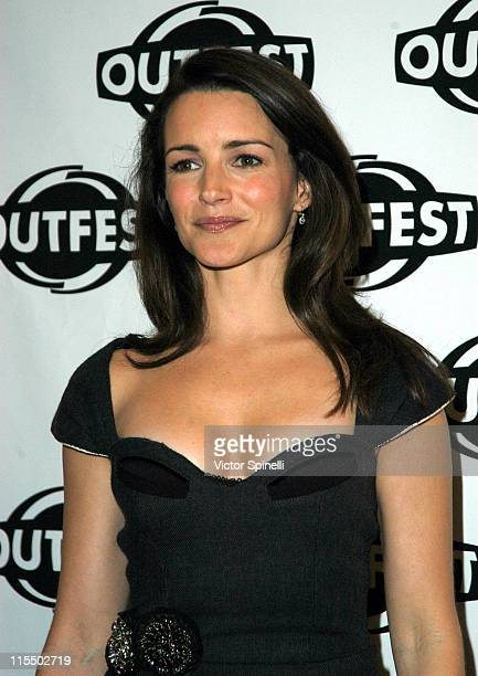 Kristin Davis during Outfest 2004 Holiday Celebration at Hammer Museum in Westwood California United States