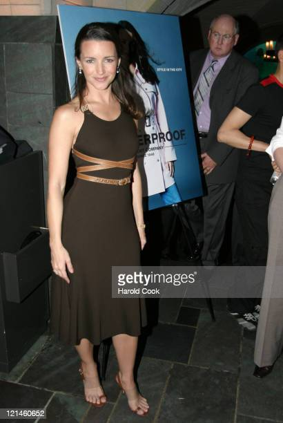 Kristin Davis During Style In The City Weatherproof Garment Companys Spring 2005 Collection At