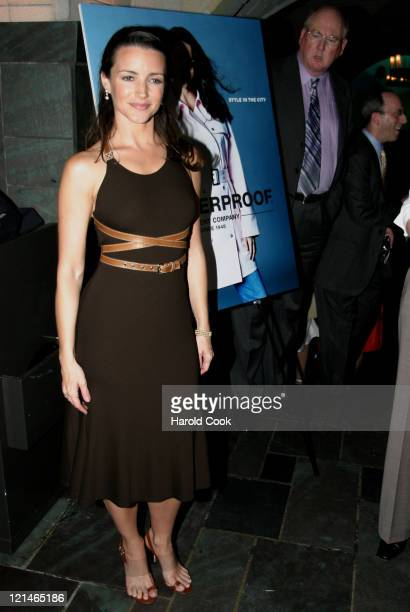 Kristin Davis during 'Style in the City' Weatherproof Garment Company's Spring 2005 Collection at The Cellar Bar at the Bryant Park Hotel in New York...