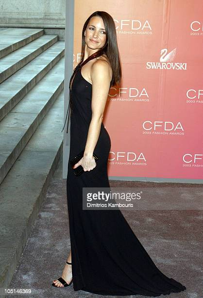 Kristin Davis during The 2003 CFDA Fashion Awards Arrivals at The New York Public Library in New York City New York United States