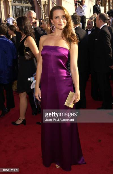 Kristin Davis during The 55th Annual Primetime Emmy Awards Arrivals at The Shrine Theater in Los Angeles California United States
