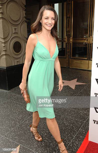 Kristin Davis during 'The Adventures of Shark Boy Lava Girl in 3D' Los Angeles Premiere Arrivals at El Capitan Theater in Hollywood California United...