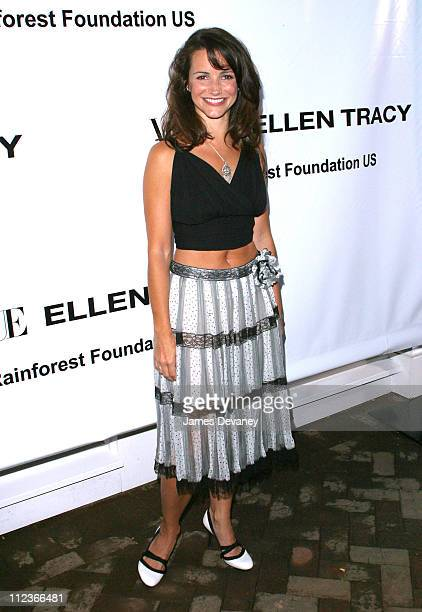 Kristin Davis during Vogue and Ellen Tracy Throw Party to Benefit the Rainforest Foundation US at The Boat House in Central Park in New York City New...