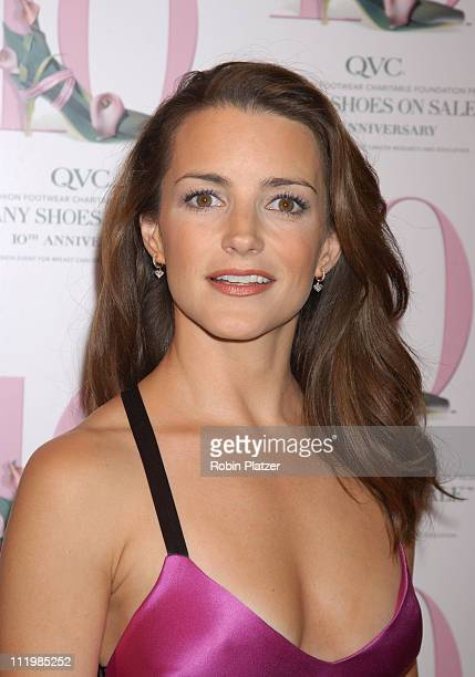 Kristin Davis in a Ralph Lauren dress during QVC Presents The 10th Annual FFANY Shoes On Sale at American Museum of Natural History in New York City...