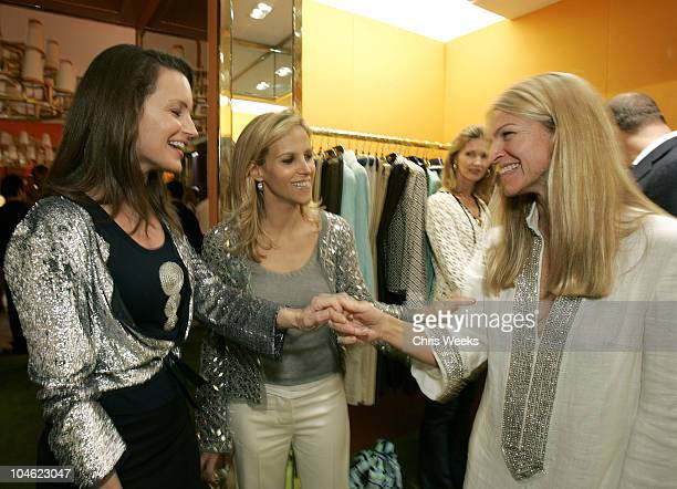Kristin Davis Tory Burch and Crystal Lourd during Tory Burch Launches West Coast Store Tory by TRB at Tory by TRB in Los Angeles California United...
