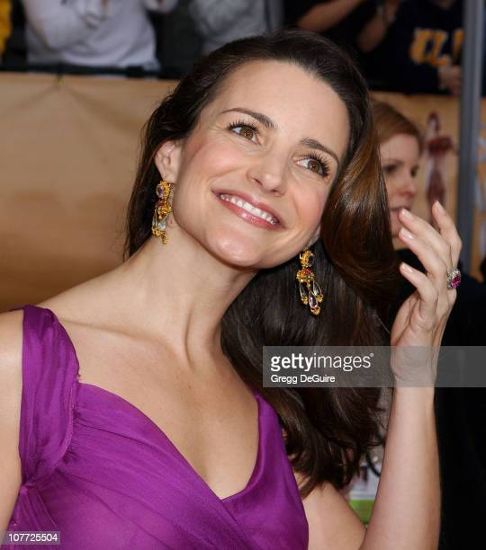 Kristin Davis wearing Fred Leighton jewels during 10th Annual Screen Actors Guild Awards Arrivals at Shrine Auditorium in Los Angeles California...