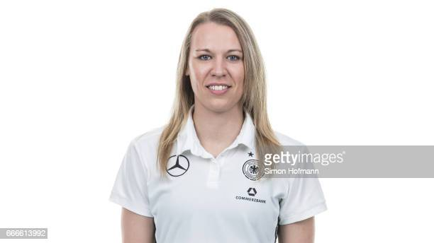 Kristin Demann poses during the DFB Ladies Marketing Day on April 4 2017 in Frankfurt am Main Germany